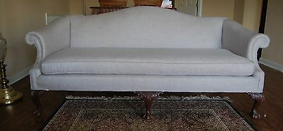 Antique Sofa Reupholstered with Modern Fabric!