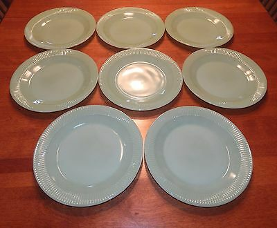 8 Fire-King Jadeite Jadite Jane Ray 9 inch dinner plates. Great Condition!