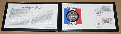 1994 .900 Pure Silver 1 Franc Uncirculated Coin & First Day Cover