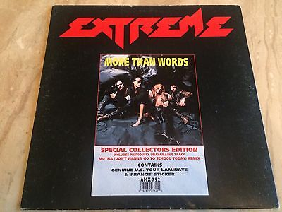 """EXTREME  MORE THAN  WORDS 12"""" On Vinyl"""