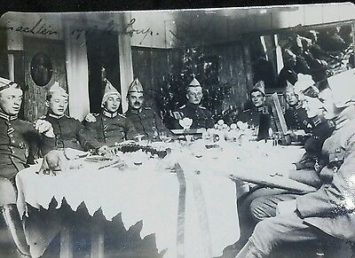 WWI PHOTO OF JASTA 19 fighter pilots at xmas party 1917