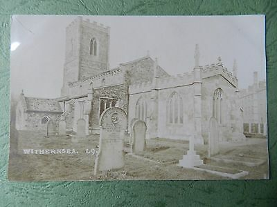 Vintage Rp Postcard - Old Church ,  Withernsea , Yorkshire