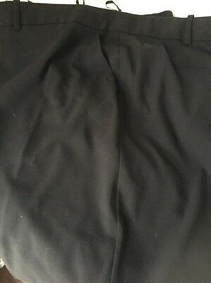 Black Wide Leg Trousers From Next - Size 26R