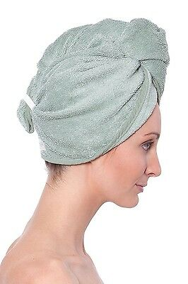 Texere Women's Bamboo Hair Towel Hair Towel AB0101-LGN-U - Lily Green Unisize