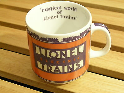 """Lionel Electric Trains Coffee Cup Mug """"Magical World of Lionel Trains"""" USA"""