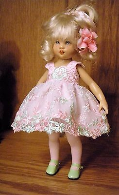Riley Kish - Beautiful Lace Dress - Tights - Underwear ~Tiny Doll Clothes by SUS