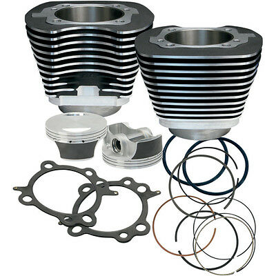 """S&s 106"""" Big Bore Kit For Harley Twin Cam 2007-2016 Cylinders And Pistons Black"""