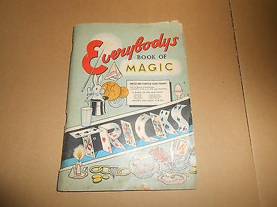 Everybody's Book of Magic Tricks - Old Musty Paperback Book
