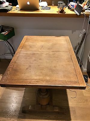 Solid Wood, (Oak?), Antique Extendable Dining Table