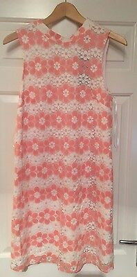 Women's Floral Two Tone Pink Retro Dress Size 12 Brand New With Tags