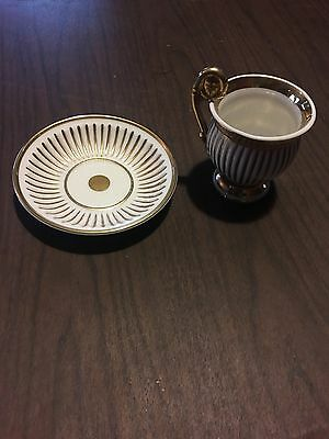 Antique Meissen Germany Gold Cup And Saucer G-1225