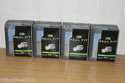 Depend Real Fit Men's Briefs Size S/M Blue/Gray 4x 12ct Packs - 48 Pairs Total!