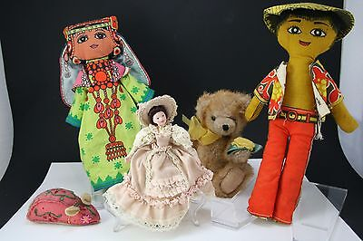 Handmade Doll and Bear Collection Lot
