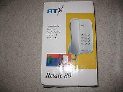 BT Relate 80 Phone Vintage NEW OLD STOCK White