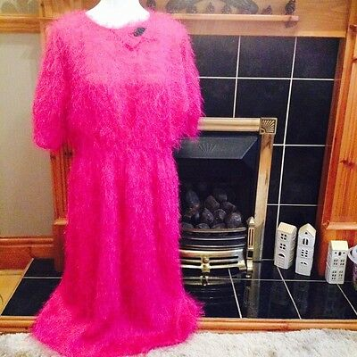 Women's Shimmy Vintage Dress, Size 12/14 with vintage bead broach attached.