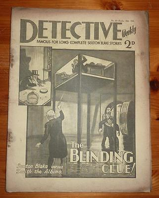 DETECTIVE WEEKLY No 87 20TH OCT 1934 THE BLINDING CLUE! SEXTON BLAKE