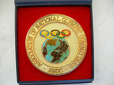 RARE médaille olympique olympic medal J O  CIO  olympia committee ANOC NOC gold