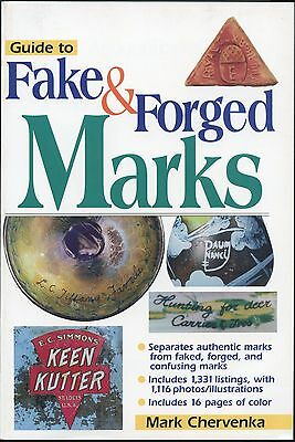 Fake Forged Marks on Reproduction Pottery Glass Toys Lamps Furniture Etc. / Book