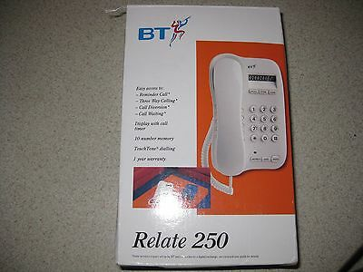 BT Relate 250 Phone Vintage NEW OLD STOCK Alpine White
