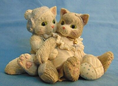 Collectible Enesco Calico Kittens The Purr-fect Love 1993 VGUC FREE SHIP!