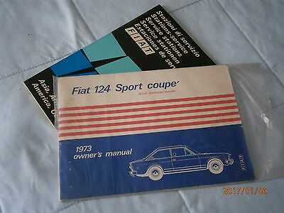Fiat 124 Coupe owners manual, NOS, + dealer directory.