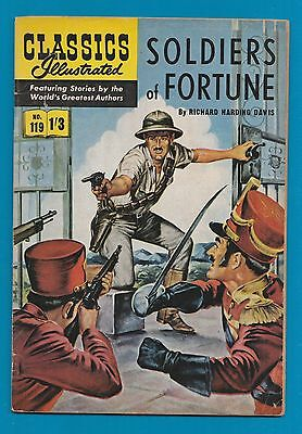 Classics Illustrated Comic Book #119 Soldiers of Fortune   #595