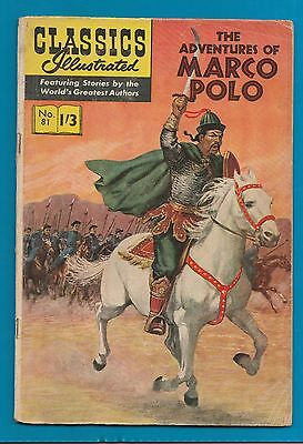 Classics Illustrated Comic Book # 81 The Adventures of Marco Polo  #802