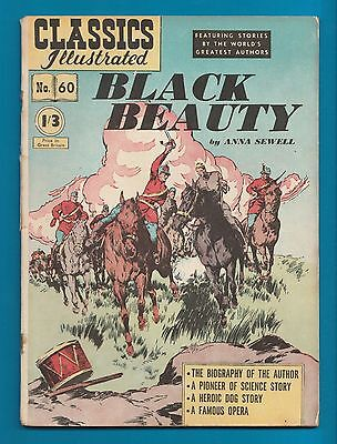 Classics Illustrated Comic Black Beauty #60  very early edition #786