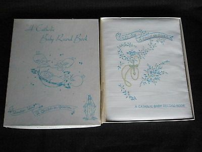 Vintage 1952 Catholic Baby Record Book in Original Box Never Used