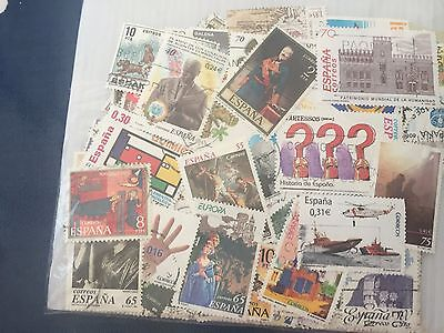 150 all different Spain Espana stamps most used including good values