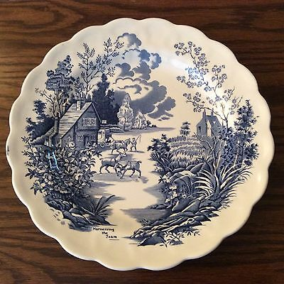 Ridgway Coaching Days Blue and White Plate - Harnessing the Team