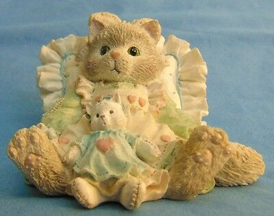 Collectible Enesco Calico Kittens Friends are Cuddles of Love 1992 VGUC FREE SH!