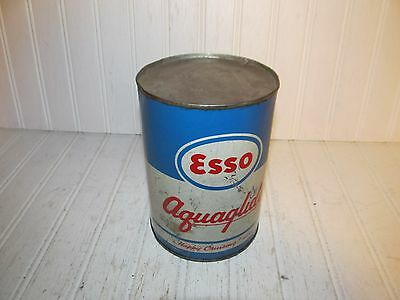 Esso Aquaglide Outboard Motor Oil Quart Can - Great Litho - Unopened!