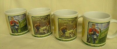 Set Of 4 John Deere Coffee Mugs Cups (7928)
