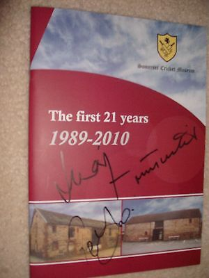 Somerset Cricket Museum Book - Signed X3 Players