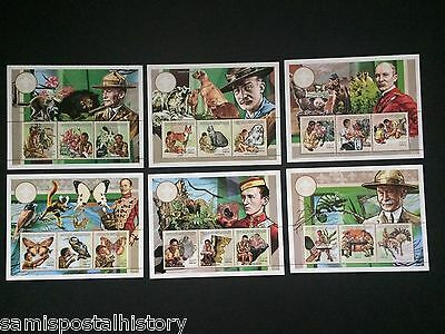 French Colonies - Central Afica mnh perf stamp sheets - Scouts -fauna