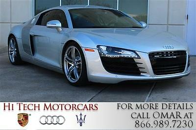 2009 Audi R8 Base Coupe 2-Door 2009 AUDI R8 Coupe V8 4.2L 6-Speed Automatic AWD Leather Silver