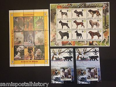 Niger - mnh stamp sheets - Scouts - Dogs -
