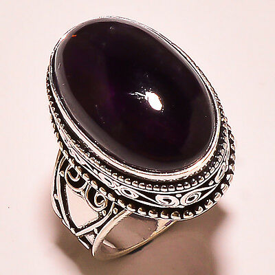 """African Amethyst .925 Sterling Silver Vitage Style Ring 5.7"""""""