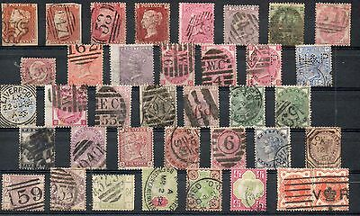 Great Britain Queen Victoria Collection of 36  Stamps.  High Cat Value