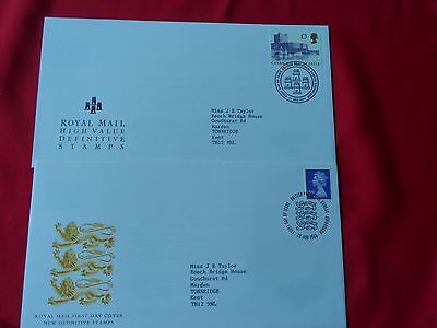 2 x GB First Day Covers from 1995