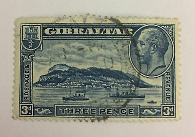 Gibraltar Sg 113a Perf 13 1/2 Fine Used Cat £42
