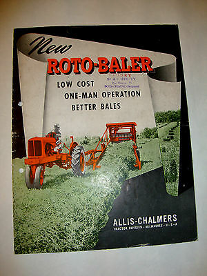 ROTO-BALER Tractor division ALLIS CHALMERS U.S.A. BROCHURE CATALOGUE