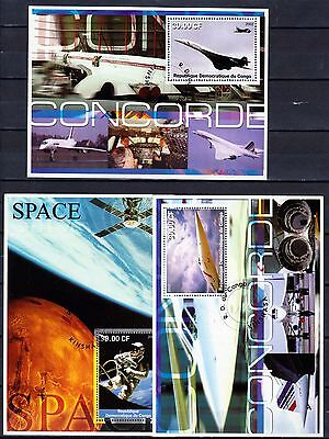 Congo 2002 space sheets, used
