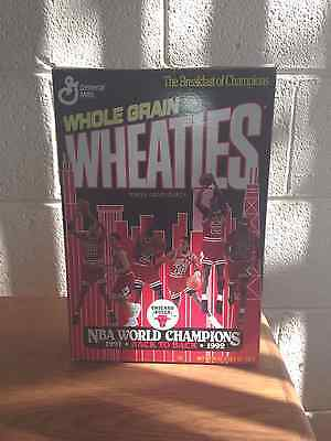 Wheaties Chicago Bulls Back to Back World Champions 1991 & 1992 Cereal Box