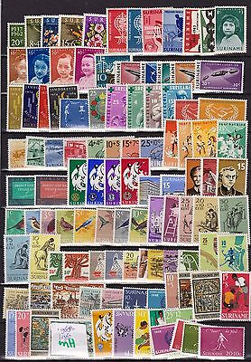 Suriname 1962-1968 lot MH stamps