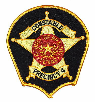 BRAZOS – CONSTABLE - TEXAS TX Police Sheriff Patch PRECINCT 4 LONE STAR STATE ~