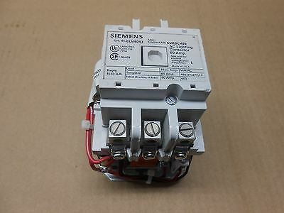 1 New Siemens Clm0D03120 Ac Lighting Contactor 60 Amp 3 N.o. Open 60A 120V Coil