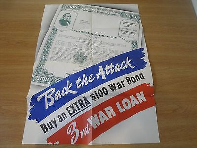 WW2 Poster - Back the Attack  Buy More Bonds