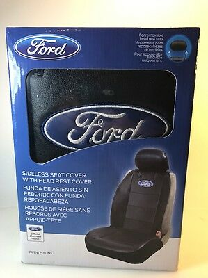 Ford Black Sideless Seat Cover Officially Licensed 008584R01 Plasticolor